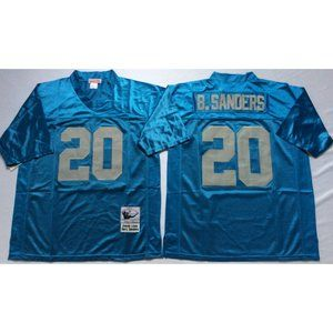 Barry Sanders Blue Throwback Jersey